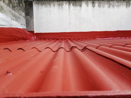 Impermeabilización de cubierta con placas de fibrocemento en C/Noya, A Coruña